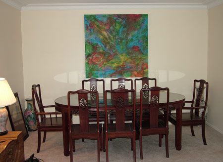 Finders keepers painting in private residence