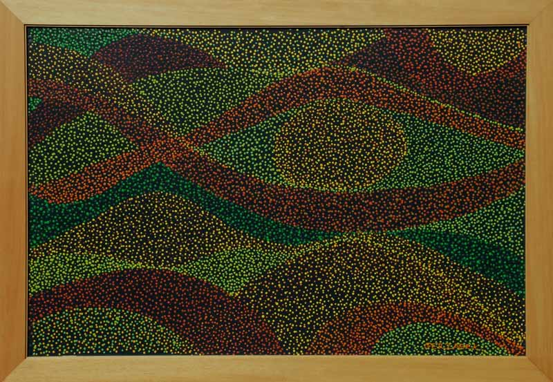black is beautiful contemporary abstract landscape painting Aboriginal art inspired