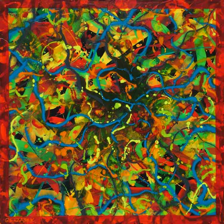 energized abstract patterns original painting for sale