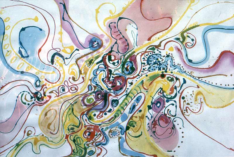abstract watercolour art painting