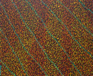 blowing wind abstract patterns painting homage to aboriginal art