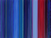 spectrum shift contemporary abstract artist blue period art painting
