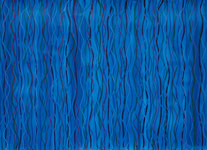 blue waving patterns acrylic on paper