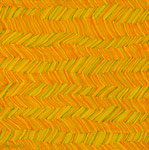 zigzag horizontal pattern orange yellow abstract painting