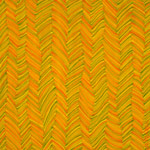 zigzag vertical pattern orange yellow abstract painting