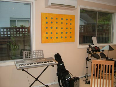 contemporary painting in Music room
