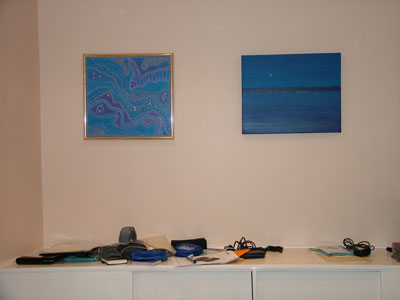 blue contemporary paintings