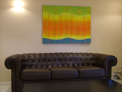 original painting in home setting